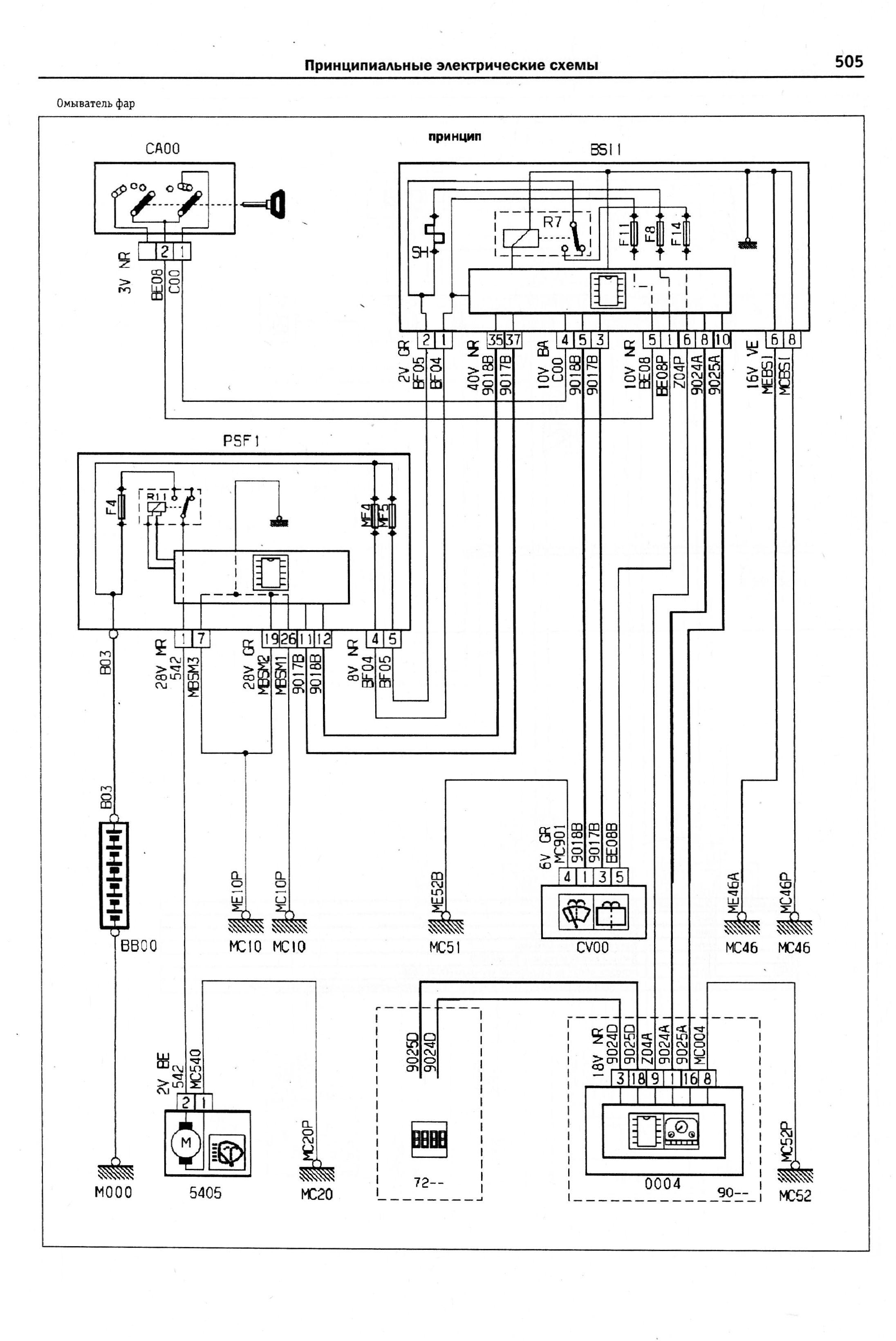Пежо 307 схема подключения фар