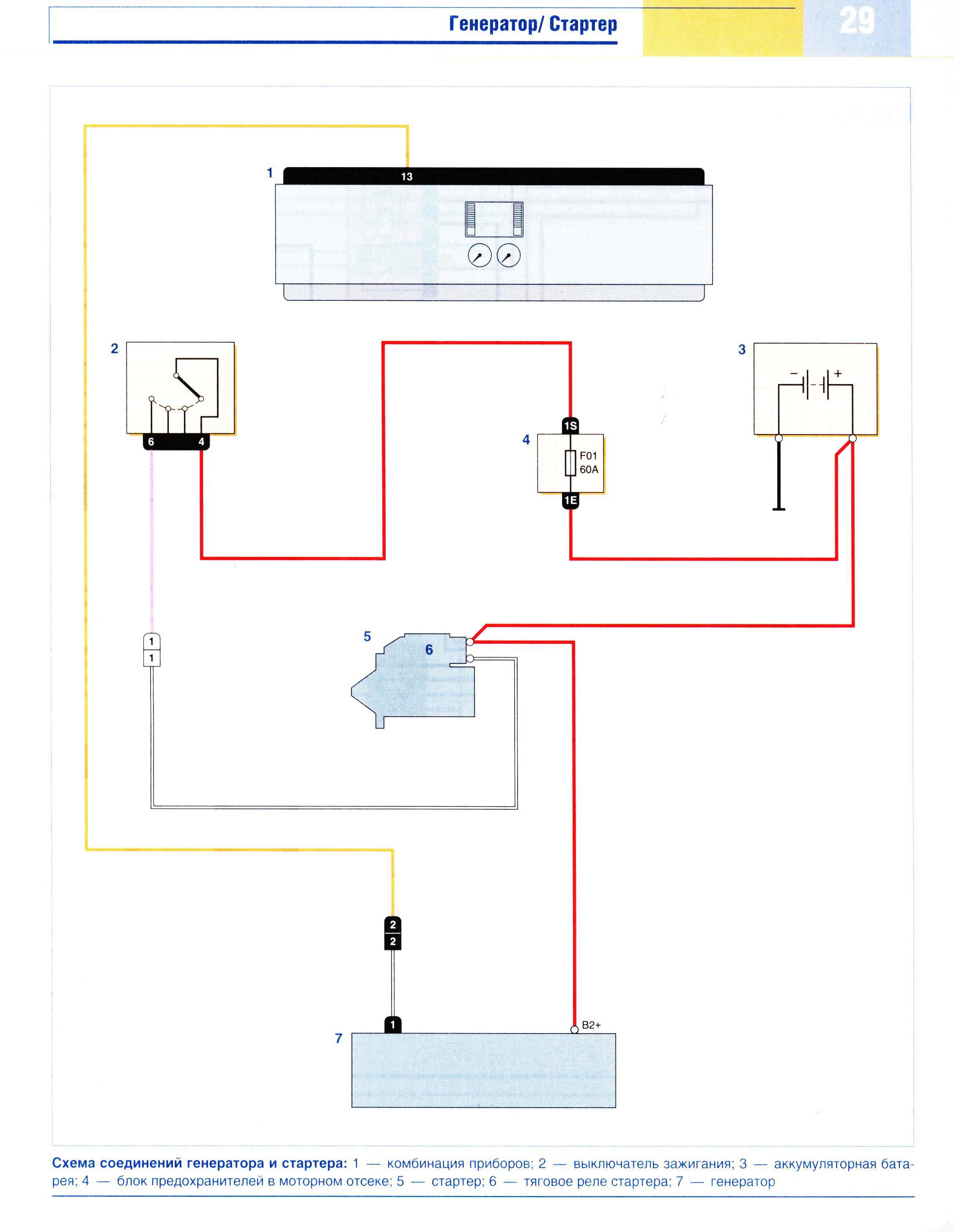 Схема подключения генератора на рено логан