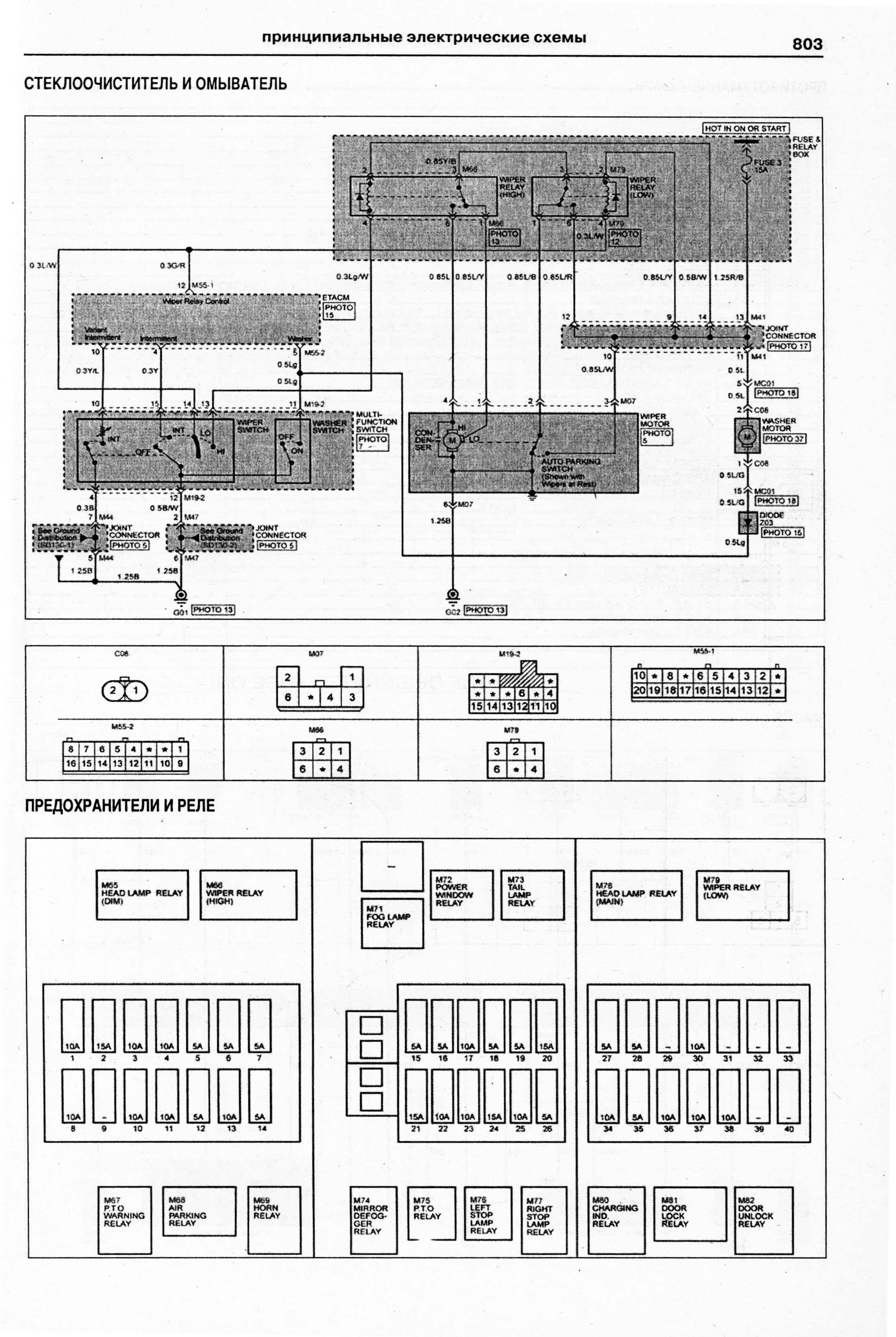 электро схема hyundai h-1