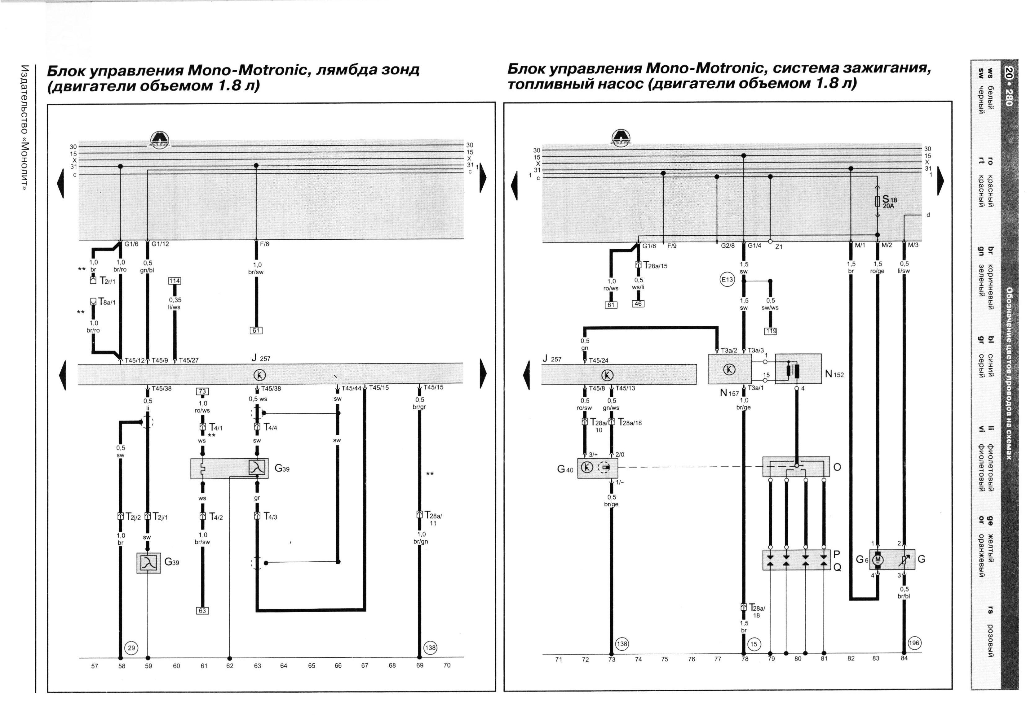 схема эл. оборудования фольксваген кадди