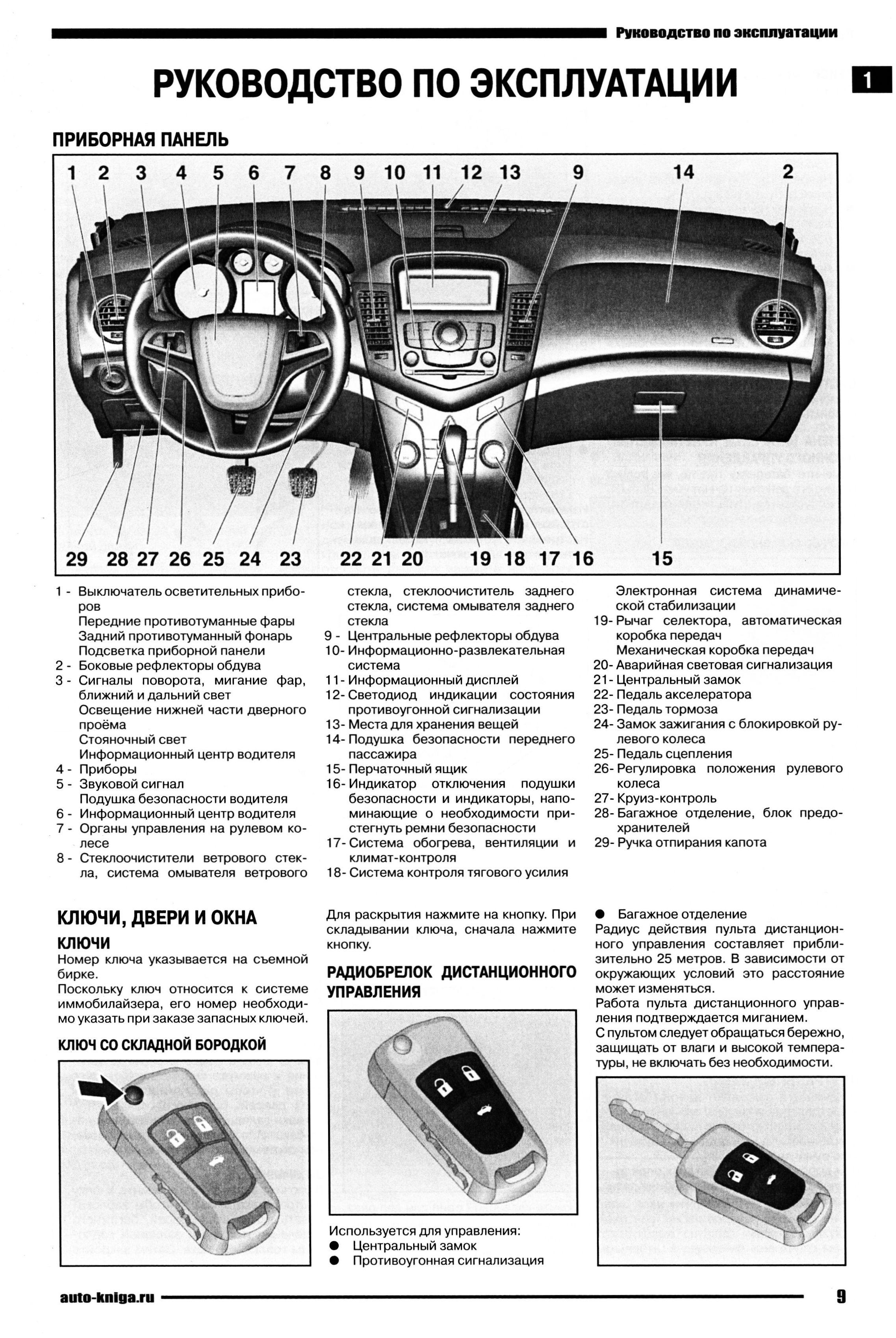 круз шевроле руководство по эксплуатации и ремонту