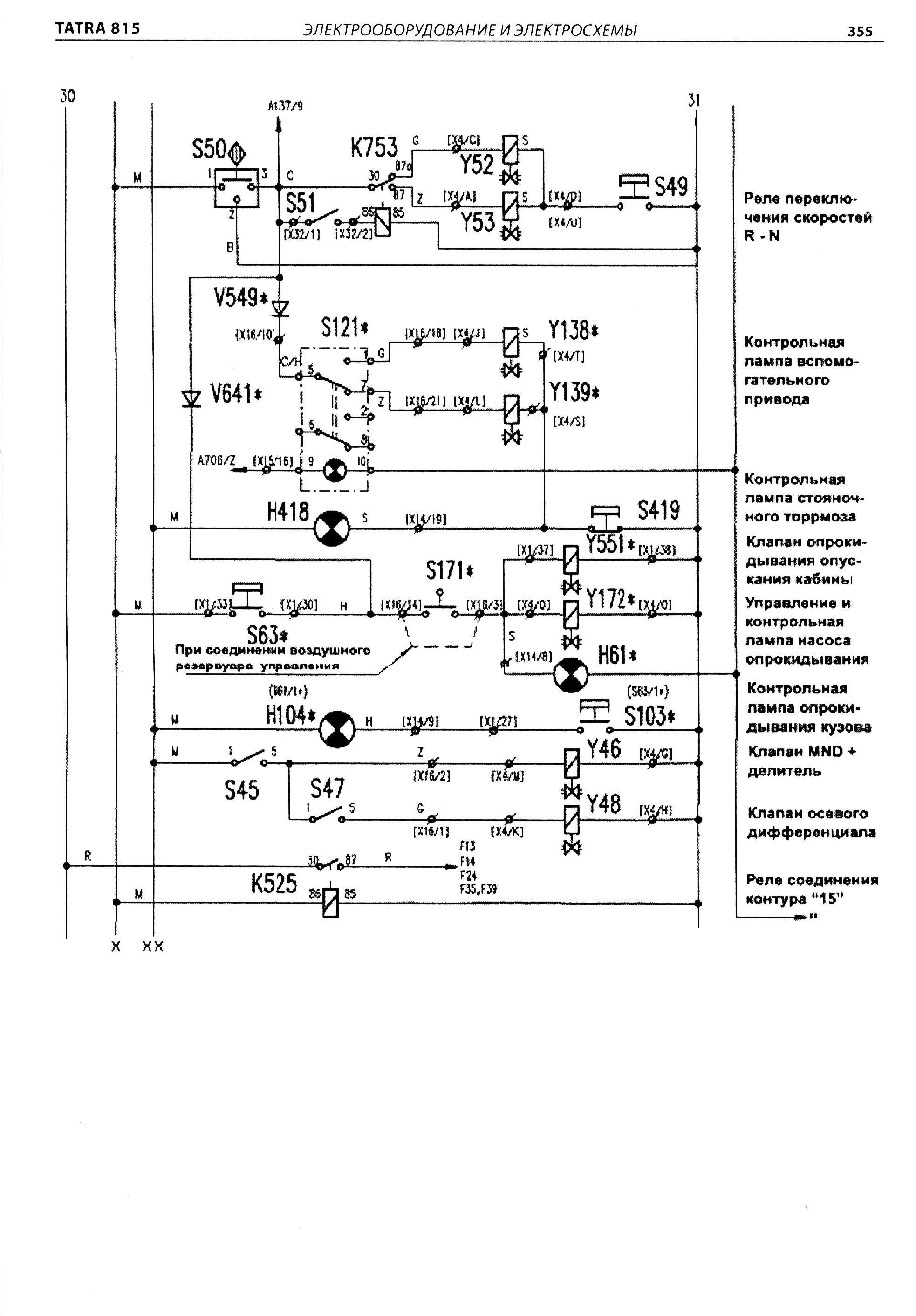 Схема электрооборудования татра-815