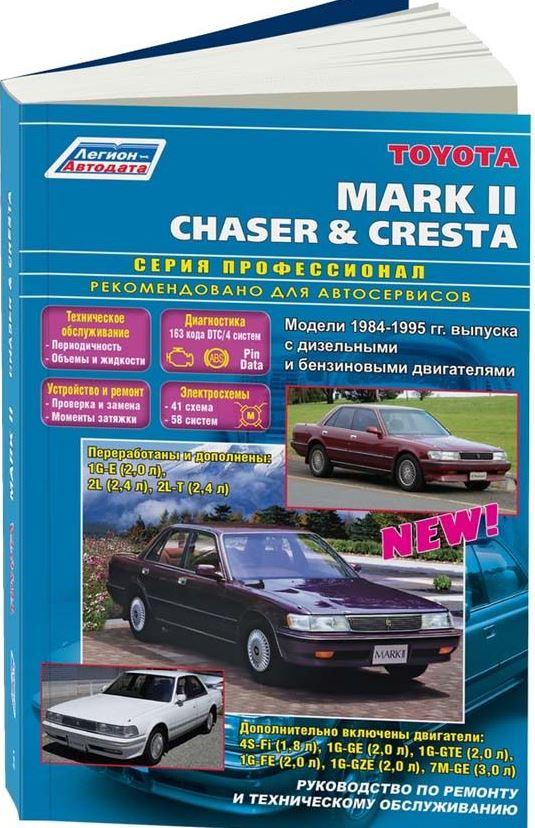 Руководство TOYOTA CRESTA / MARK II / CHASER (Тойота Креста) 1984-1995 бензин / дизель Книга по ремонту и эксплуатации
