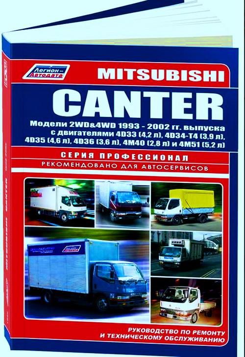 Книга MITSUBISHI CANTER (МИЦУБИСИ КАНТЕР) с 1993 дизель Пособие по ремонту и эксплуатации