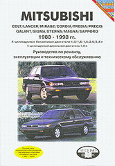 MITSUBISHI COLT / LANCER / MIRAGE / PRECIS 1983-1993 (сборник) бензин / дизель
