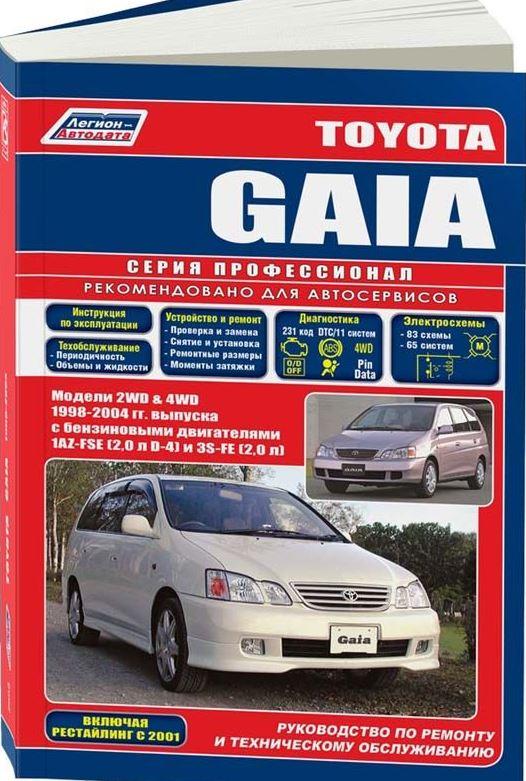 Руководство TOYOTA GAIA (ТОЙОТА ГАЙЯ) 1998-2004 бензин Пособие по ремонту и эксплуатации