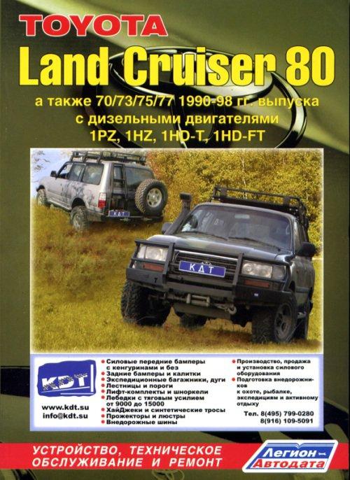 TOYOTA LAND CRUISER 80 1990-1998 дизель Книга по ремонту и эксплуатации (764)