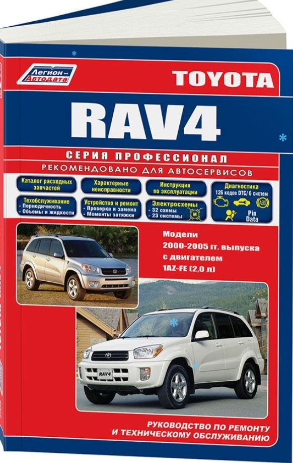 Руководство TOYOTA RAV 4(Тойота РАВ4)  2000-2005 бензин Книга по ремонту и эксплуатации