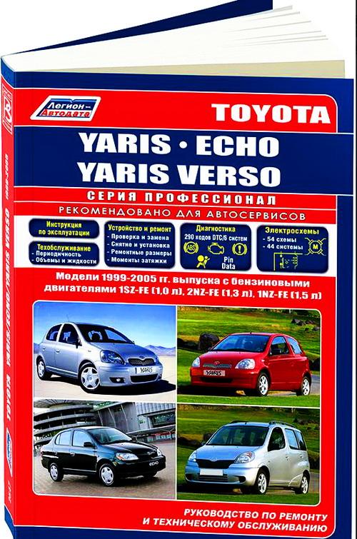 Руководство TOYOTA YARIS / TOYOTA YARIS VERSO (ТОЙОТА ЯРИС) 1999-2005 бензин Пособие по ремонту и эксплуатации