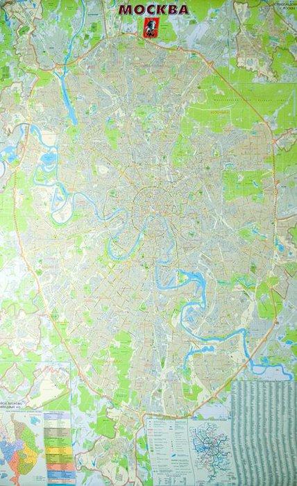 Настенная карта Москвы (масштаб 1 : 25 000)