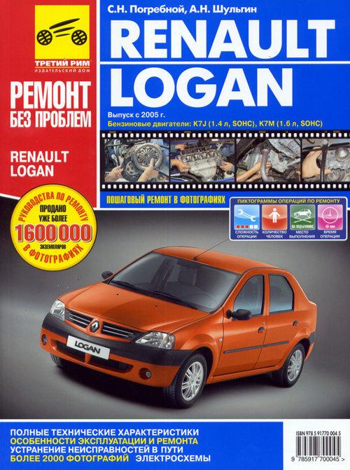 Книга RENAULT LOGAN (Рено Логан) с 2005 бензин Руководство по ремонту в цветных фотографиях
