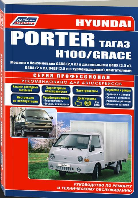 Книга HYUNDAI H-100 / GRACE 1993-2002 (Хендай 100) бензин / дизель Пособие по ремонту и эксплуатации
