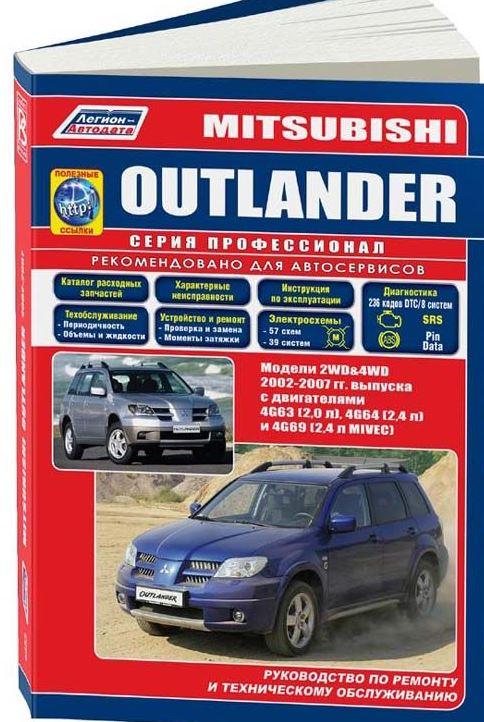 Руководство MITSUBISHI OUTLANDER (Мицубиси Аутлендер) 2002-2007 бензин Пособие по ремонту и эксплуатации