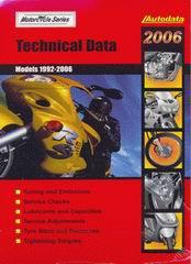 Регулировочные данные по мотоциклам 2006 (1992-2006)