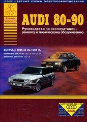 AUDI 90 / 80 1986-1994 бензин / дизель  Книга по техническому обслуживанию и ремонту
