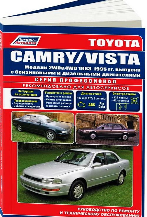 Инструкция TOYOTA VISTA / CAMRY (ТОЙОТА ВИСТА) 1983-1995 бензин / дизель Руководство по ремонту и эксплуатации