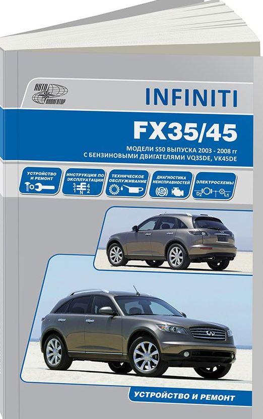 Книга INFINITI FX35 / FX45 (Инфинити 35 / 45)  c 2003 бензин Пособие по ремонту и эксплуатации