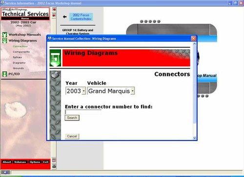 CD FORD MERCURY GRAND MARQUIS 2002-2003