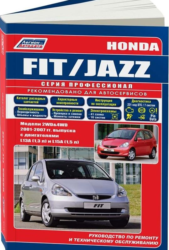 Инструкция HONDA FIT / JAZZ (Хонда Фит) 2001-2007 бензин Пособие по ремонту и эксплуатации
