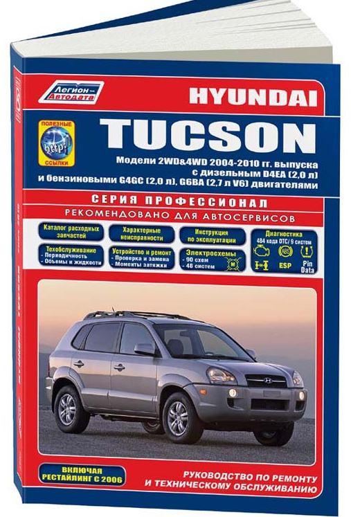 Книга HYUNDAI TUCSON (Хенде Туксон) с 2004-2010 бензин и дизель.Руководство по ремонту и эксплуатации