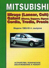 MITSUBISHI MIRAGE (LANCER, COLT), GALANT (ETERNA, SAPPORO, SIGMA), CORDIA, TREDIA, PRECIS 1983-1993 бензин
