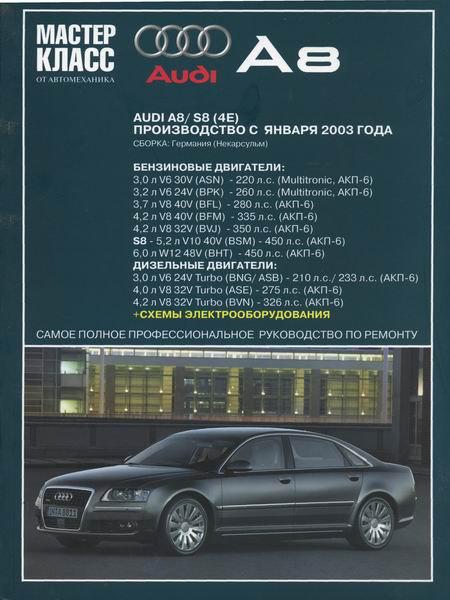 AUDI A8 с 2003 бензин / дизель Пособие по ремонту и эксплуатации