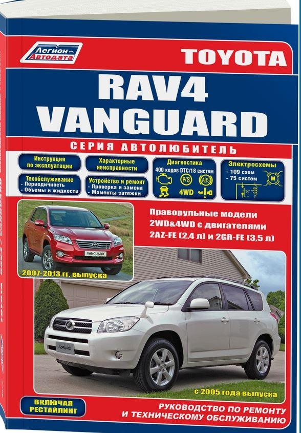 Инструкция TOYOTA RAV4 / VANGUARD (Тойота Рав4 / Вангуард) с 2005 бензин Книга по ремонту и техническому обслуживанию