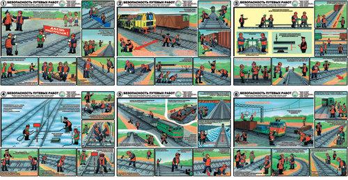 Каталог плакатов Безопасность путевых работ