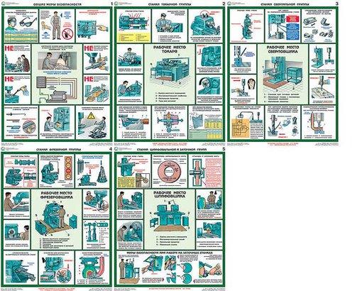 Каталог плакатов Безопасность труда при металлообработке