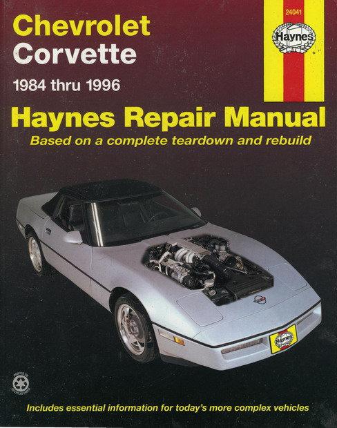 CHEVROLET CORVETTE 1984-1996 бензин Мануал по ремонту и техническому обслуживанию