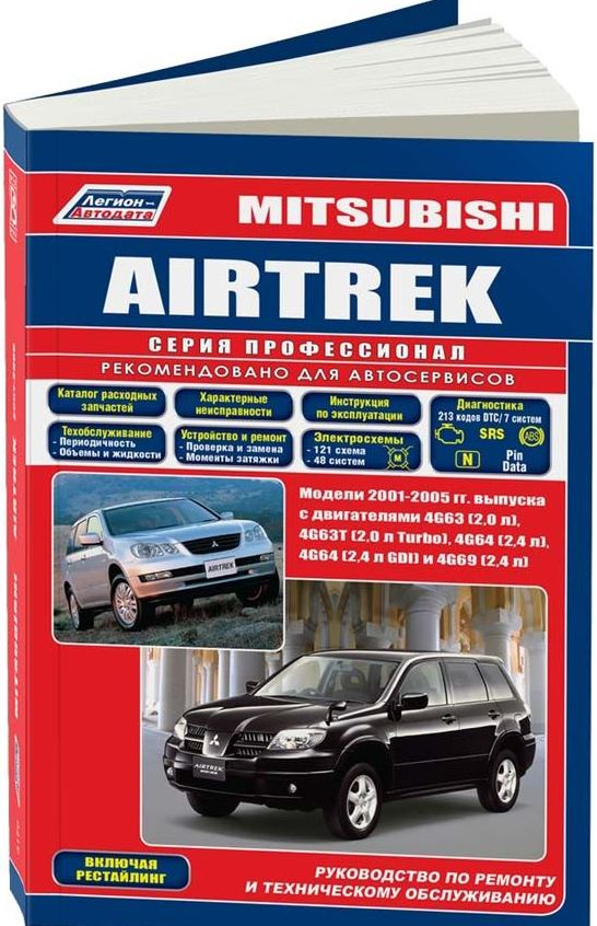 Книга MITSUBISHI AIRTREK (Мицубиси Аиртрек) 2001-2005 бензин Пособие по ремонту и эксплуатации