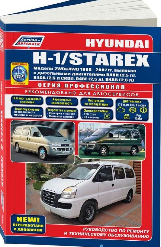 Книга HYUNDAI STAREX / H1 (Хендай Старекс) 1998-2007 дизель Пособие по ремонту и эксплуатации