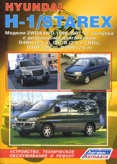 HYUNDAI STAREX / H1 1998-2007 дизель Пособие по ремонту и эксплуатации
