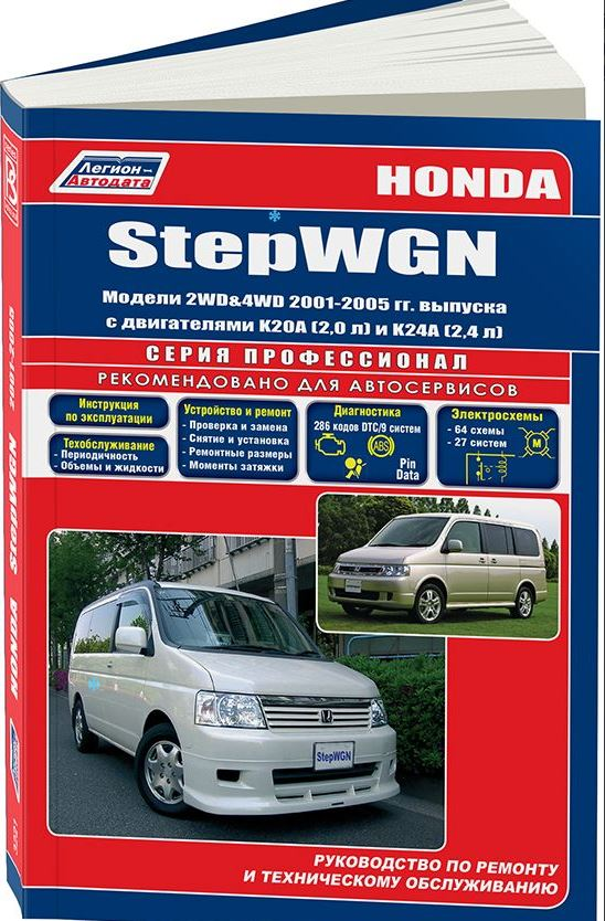 Руководство HONDA STEPWGN (Хонда Степвагон) 2001-2005 бензин Пособие по ремонту и эксплуатации