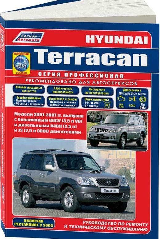 Книга HYUNDAI TERRACAN (Хендай Терракан) с 2001 бензин / дизель Пособие по ремонту и эксплуатации