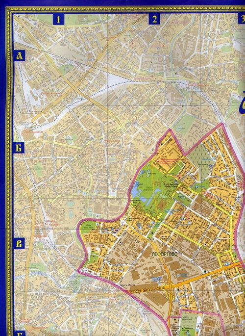 Карта Юго-Восточный Округ Москвы
