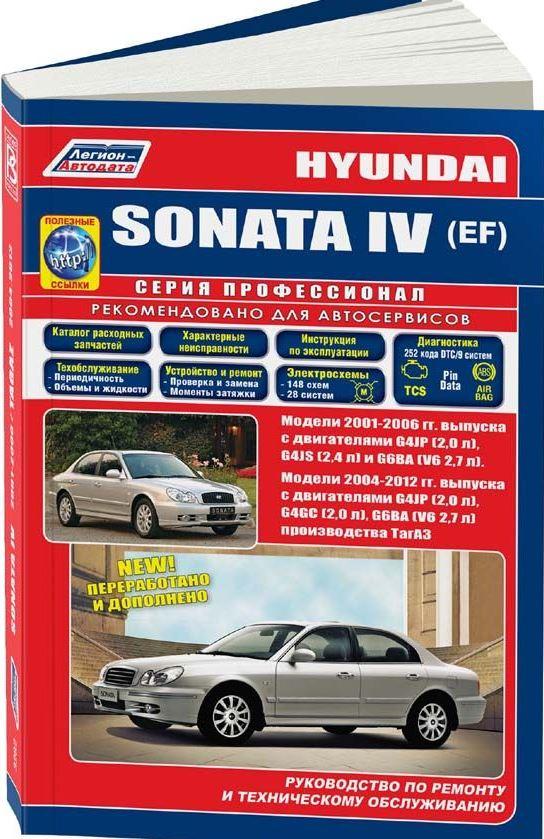 Книга HYUNDAI SONATA IV (EF) (Хендай Соната 4) 2001-2006 (с 2004 в России) бензин Пособие по ремонту и эксплуатации