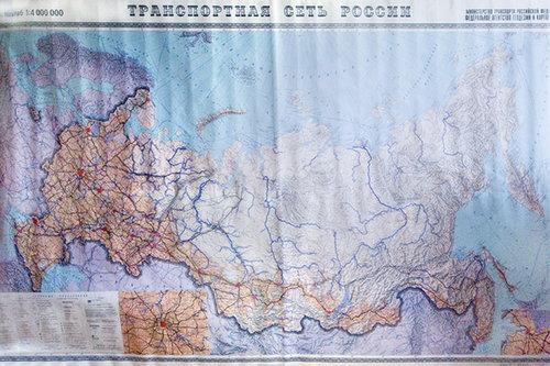 ТРАНСПОРТНАЯ СЕТЬ РОССИИ  (Масштаб 1 : 4 000 000)