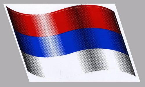 Автонаклейка флаг RUSSIA 19х18