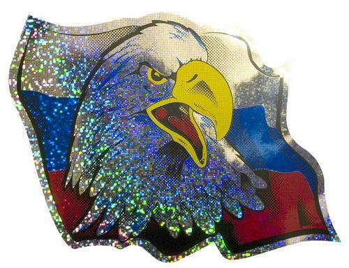 Автонаклейка Орел голографическая