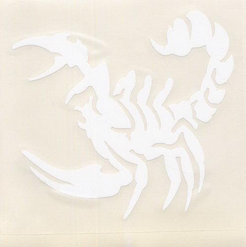 Автонаклейка Скорпион 10х10 (цвет белый)
