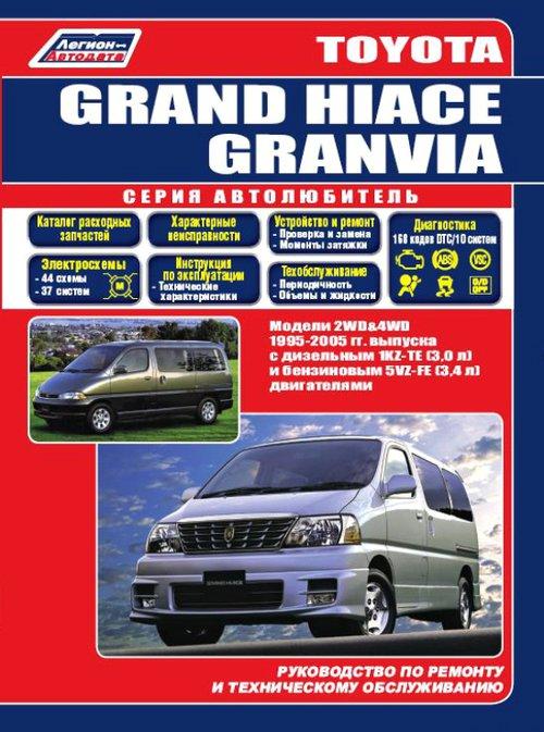 Книга TOYOTA GRANVIA  (ТОЙОТА ГРАНВИЯ) 1995-2005 бензин / дизель Руководство по ремонту и эксплуатации