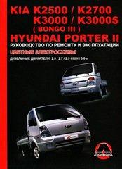 Инструкция KIA K2500 / К2700 / К3000 / K3000S (BONGO III) / HYUNDAI PORTER II (КИА К2500) дизель Пособие по ремонту и эксплуатации