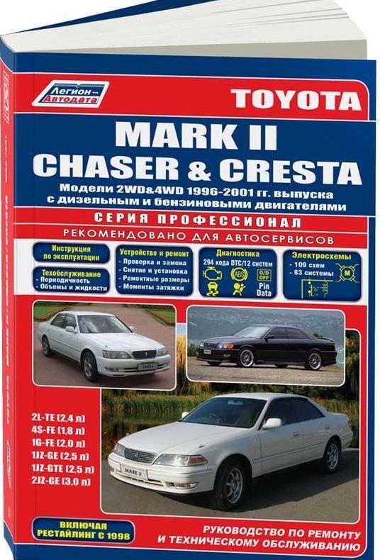 Пособие TOYOTA CHASER / MARK II / CRESTA  (Тойота Чайзер) 1996-2001 бензин / дизель Пособие по ремонту и эксплуатации