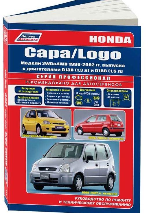 Руководство HONDA LOGO (Хонда Лого) 1996-2001 бензин Пособие по ремонту и эксплуатации