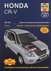Инструкция HONDA CR-V (ХОНДА СРВ)  2002-2006 бензин / дизель Книга по ремонту и эксплуатации
