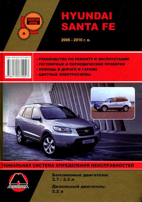 Руководство HYUNDAI SANTA FE (Хендай Санта Фе) с 2006 бензин / дизель Книга по ремонту и эксплуатации