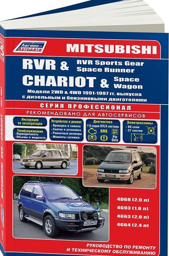 Инструкция MITSUBISHI SPACE RUNNER / RVR / RVR SPORTS GEAR (Мицубиси Спейс Раннер) 1991-1997 бензин / дизель Пособие по ремонту и эксплуатации