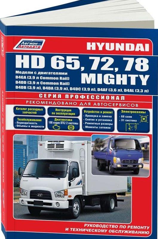 Руководство HYUNDAI MIGHTY / HD65 / HD72 / HD78 (Хендай Мигти) дизель Книга по ремонту и техобслуживанию