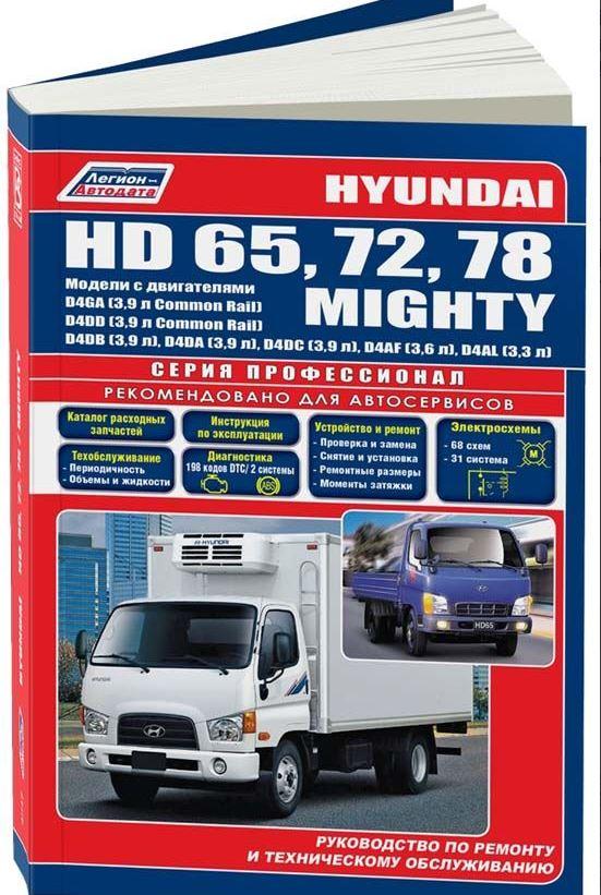 Книга HYUNDAI HD65 / HD72 / HD78 / MIGHTY (Хендай 65) дизель Руководство по ремонту и техобслуживанию